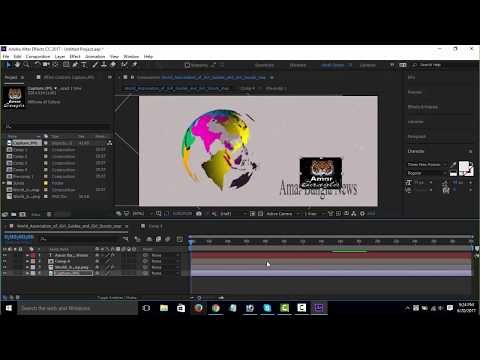 How to create youtube News Intro video with adobe after effect 2017