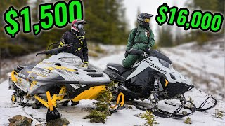 CHEAP vs EXPENSIVE Snowmobile in the Backcountry!!