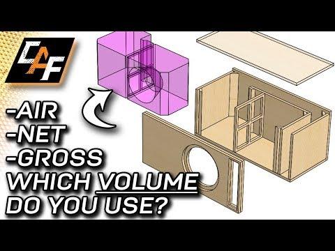 Subwoofer Box Volume Explained - Gross vs. Net vs. Air