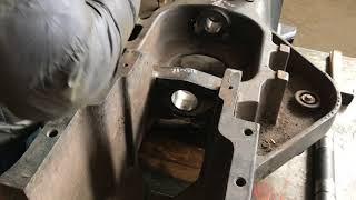 Ремонт лонжерона трактор New Holland розточування і завтуливание