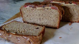 Apple Peanut Butter Banana Gluten Free Loaf Cake