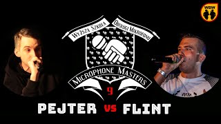 FLINT vs PEJTER @ Microphone Masters 9 @ freestyle battle