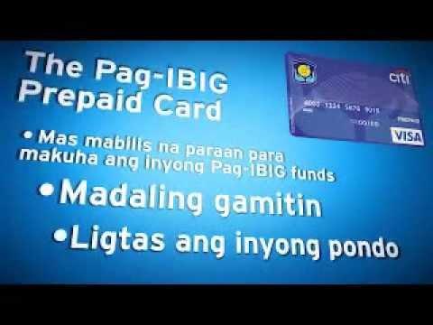 Pag Ibig Citi Prepaid Card Youtube
