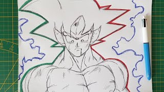 Comment dessiner GOKU avec un stylo BIC Dragon Ball Super