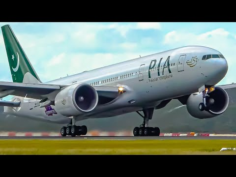COVID-19 RESCUE FLIGHT | Pakistan International Airlines 777 Takeoff & Landing | Melbourne Airport