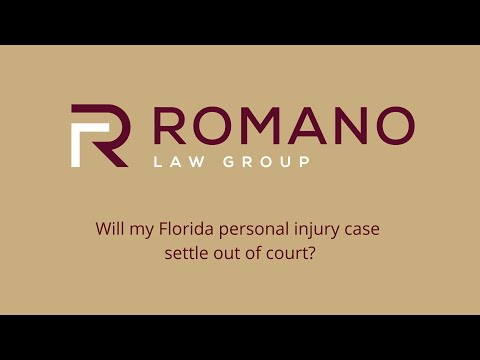 Will my Florida personal injury case settle out of court?