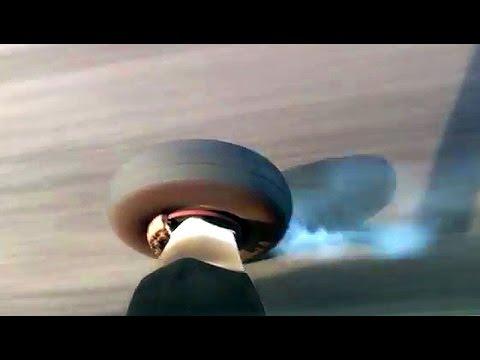 Mokulele Airlines Lava field landing gear smoke touchdown Посадка Кайлуа Кона Большой Остров Гавайи