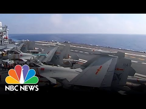 China Shows Off Military Muscle As Aircraft Carrier Hosts Combat Drill | NBC News