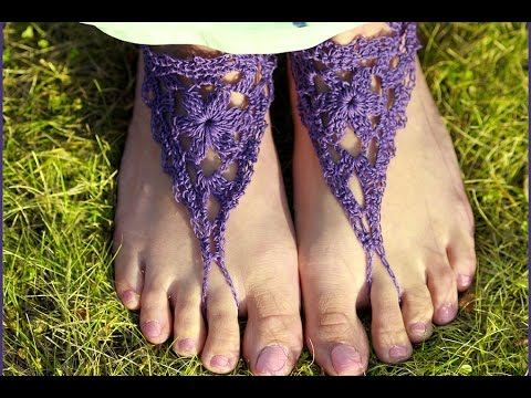 How To Crochet Adult Barefoot Sandals Youtube
