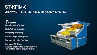 Fabric Inspection Machine for knits, A-frame batch to Roll Checking with Conveyor Belt.