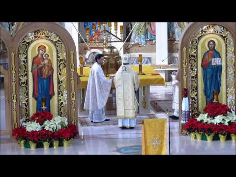 Archbishop Elect Borys Gudziak At Cathedral's Ukrainian Divine Liturgy
