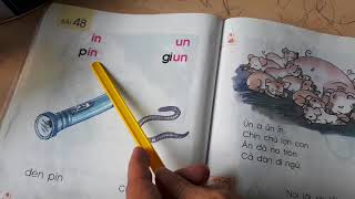 """Kitty học vần - bài 47 và 48 tiếng Việt lớp 1 - vần """"en, ên, un, in"""""""