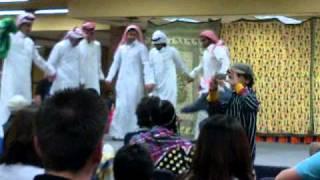 دبكة سعوديين في مدينة بوزمن بالولايات المتحده