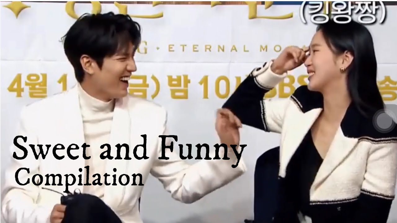 Lee Min-ho and Kim Go-eun laughing together caught on camera I The King : Eternal Monarch funny