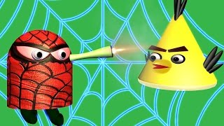 ANGRY BIRDS in Doodle Jump - Super Heroes ♫ 3D animated  game mashup  ☺ FunVideoTV - Style ;-))