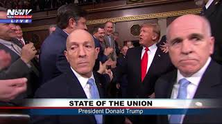 PRESIDENTIAL ENTRANCE: Trump Enters House Chamber to Address Congress #SOTU