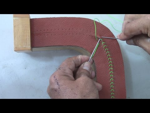 Hand Sewing Stitching on a Rounded Corner- Auto Upholstery