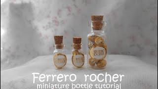 Miniature bottle: Ferrero Rochers