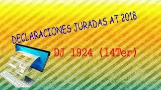 DJ 1924 AT 2018 (Declaración Jurada 14 TER)