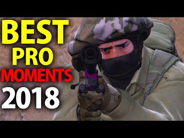 CS:GO - BEST PRO MOMENTS! 2018 (Flickshots, Crazy Clutches, Inhuman Reactions, ACEs, Best Frags)