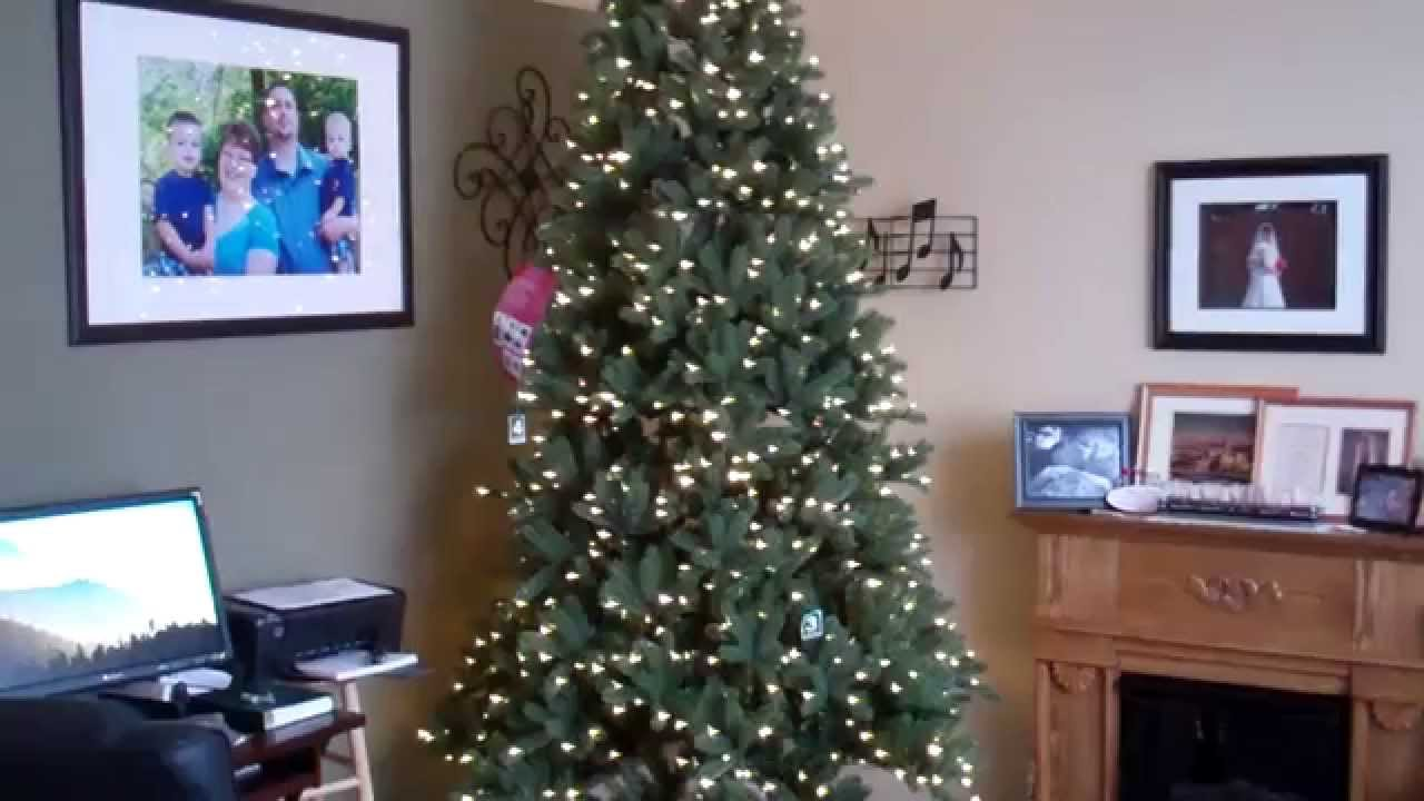 9ft Christmas Tree.Costco Ez Connect Artificial Christmas Tree 9ft Set Up