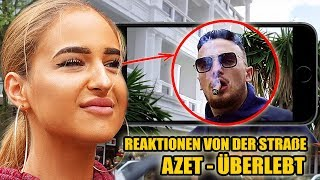 AZET - ÜBERLEBT || LIVE REAKTIONEN VON DER STRAßE #32 - Leon Lovelock