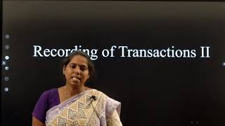 I PUC |ACCOUNTANCY|  RECORDING OF TRANSACTIONS -  II - 12