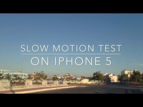 Slow motion test on iphone 5 (60fps)