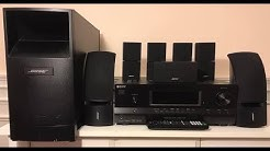 How to install a Bose Acoustimass TO A SONY RECEIVER Home theater system TA
