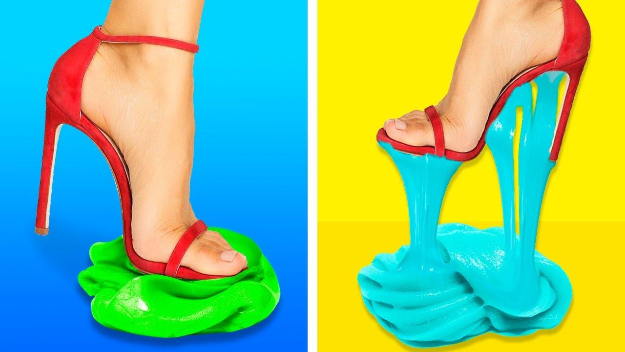 Personnalisez Vos Chaussures || 37 ASTUCES DE GÉNIE QUE TOUTES LES FILLES DEVRAIENT CONNAITRE