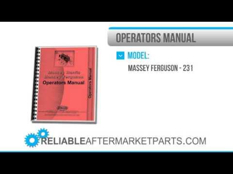 massey ferguson 231 operators manual pdf