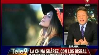 La China Suárez en España con David Bisbal