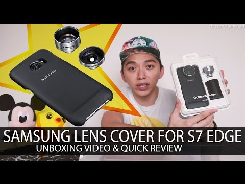 finest selection d8aad 2d08a SAMSUNG S7 EDGE WIDE LENS COVER   Unboxing & Quick Review - YouTube