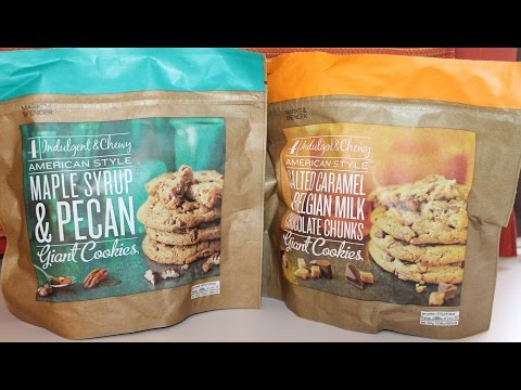 Marks & Spencer Cookies: Maple Syrup & Pecan and Salted Caramel Belgian Milk Chocolate Review