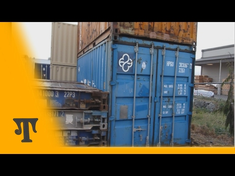 Shipping container conversion series video 1