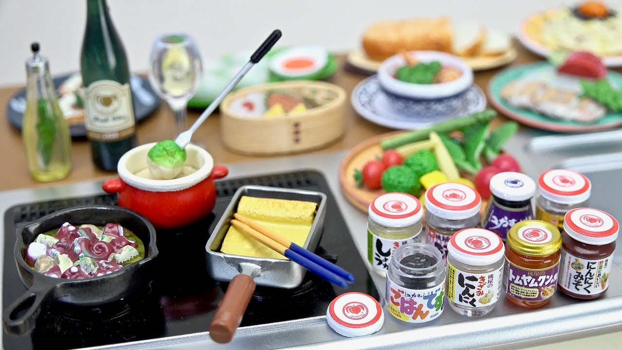 NEW Arrival Japan Re-Ment Miniature 600YEN Momoya/'s Stylish Recipe rement No.07