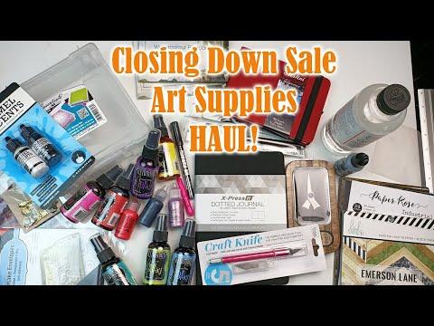 Art Supplies Haul | Creative Dreams Closing Down Sale! | Testing supplies