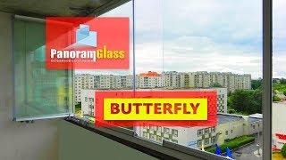 Безрамное остекление балконов и лоджий. PanoramGlass. Система BUTTERFLY.(Подробная информация на сайте panoramglass.com., 2015-08-17T15:04:08.000Z)
