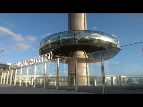 A ride on the BA i360, Brighton, UK British Airways Seafront 2018 full tour