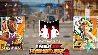 DIAMOND LARRY BIRD & KAREEM VS CHAMPIONSHIPS PLAYERS! NBA 2K Playgrounds 2 Championship Gameplay