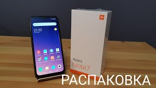 распаковка Xiaomi Redmi Note 7 Global Version 4/64gb blue с Aliexpress.com и птички :)))