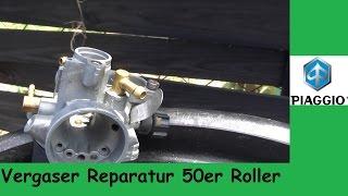 Vergaser reparieren 50er Roller Piaggio Sfera NSL