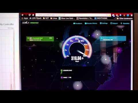 Cincinnati Bell 1gbps FiOptics beta speedtest.net