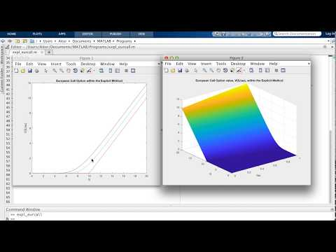 Matlab program with the explicit method for the Black-Scholes equation