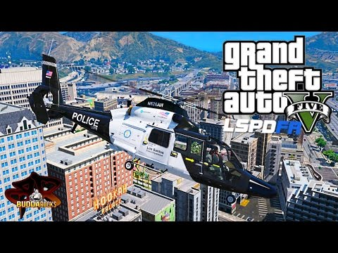 LSPDFR GTA 5 Police Helicopter Patrol◆Air Support Eurocopter AS365◆Real Life Police Mods