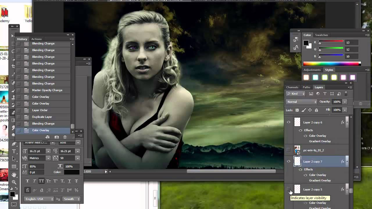 How to make a paranormal romance book cover (with vampires and werewolves)  in photoshop