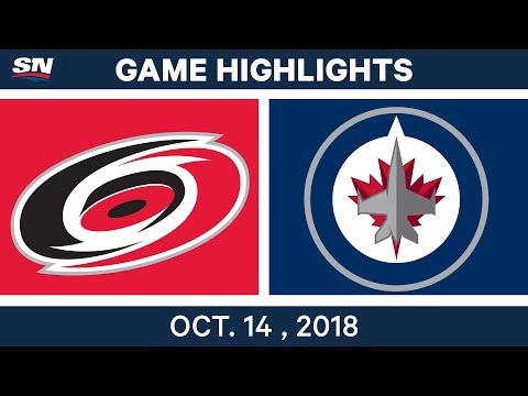 NHL Highlights | Hurricanes vs. Jets - Oct. 14, 2018