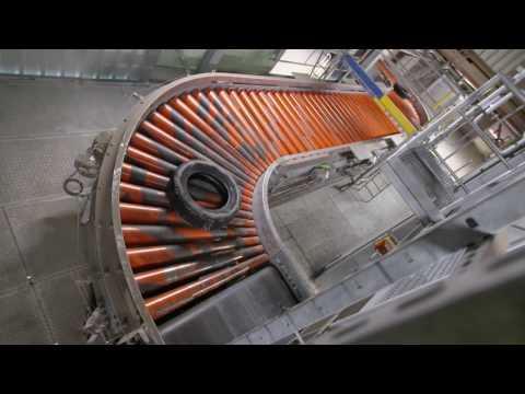 Tire Transport System at Heidelberg Cement