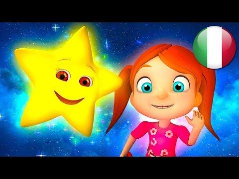 Brilla Brilla La Stellina | Rime Per I Bambini | Filastrocche Italiano | Twinkle Twinkle Little Star