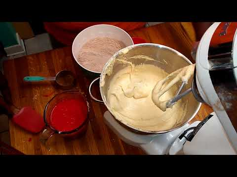Brandy Alexander Red Velvet Pound Cake Part 1 of 2 - Simple Cooking With Eric